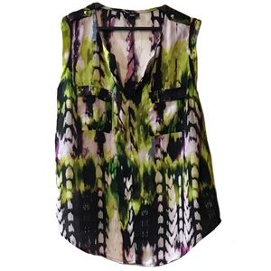 Mossimo Sleeveless Pocket Watercolor Top